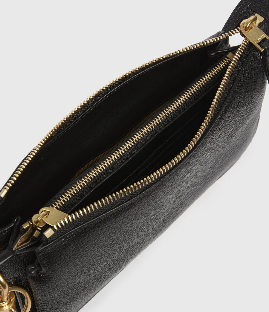 Womens Marry Leather Pochette (black) - Image 2