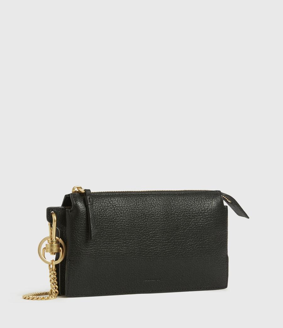 Womens Marry Leather Pochette (black) - Image 3