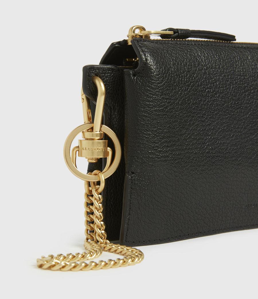 Womens Marry Leather Pochette (black) - Image 4