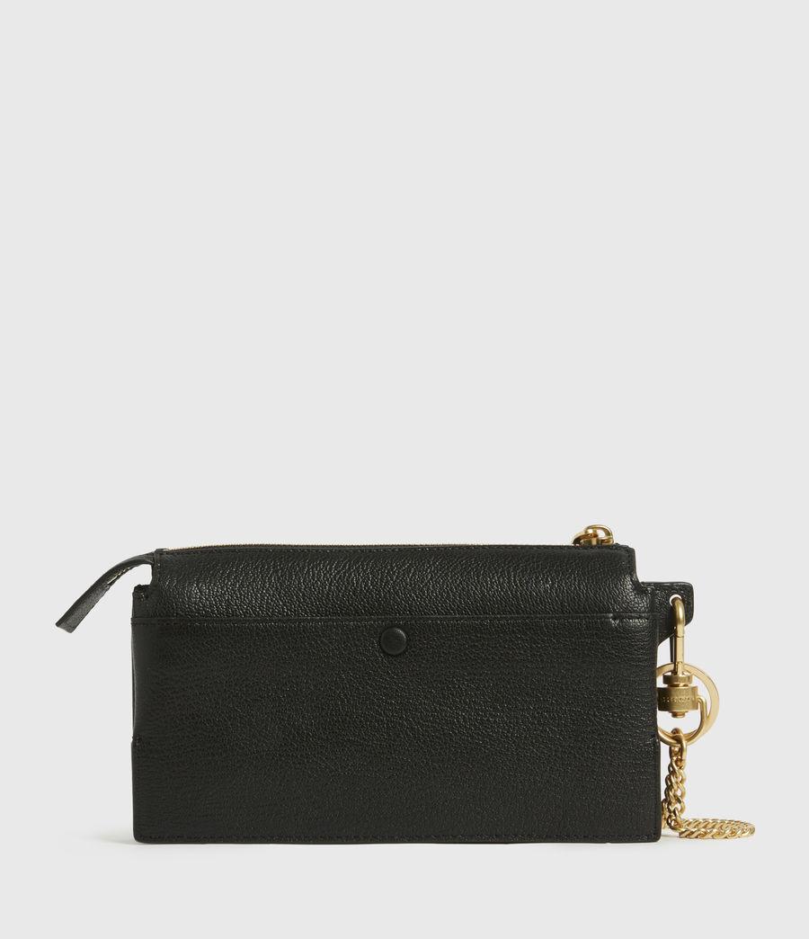 Womens Marry Leather Pochette (black) - Image 6