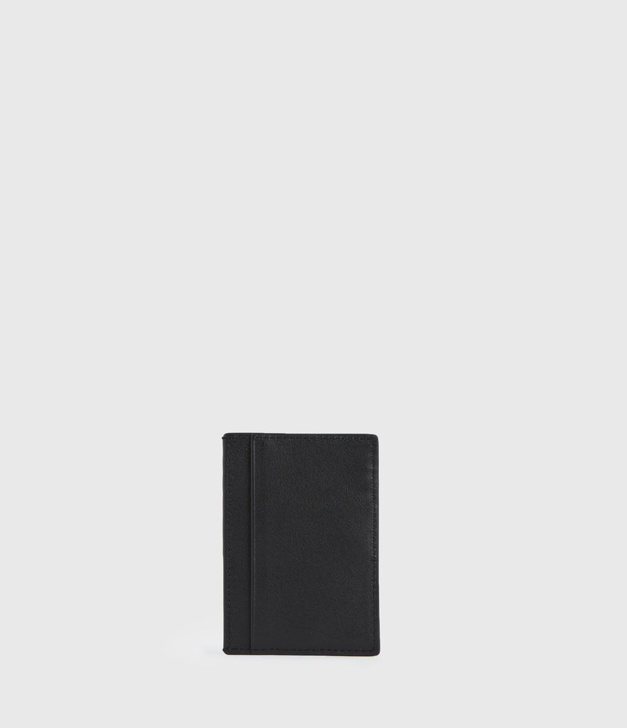 Womens Anabel Leather Cardholder (black) - Image 6