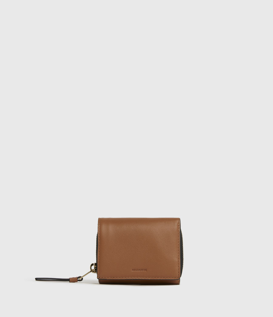 Womens Bede Leather Cardholder (rust_orange) - Image 1
