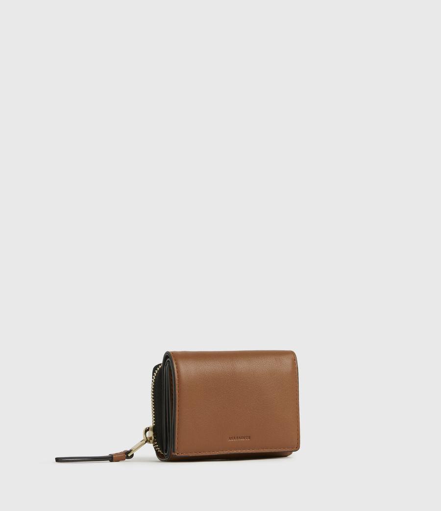 Womens Bede Leather Cardholder (rust_orange) - Image 3