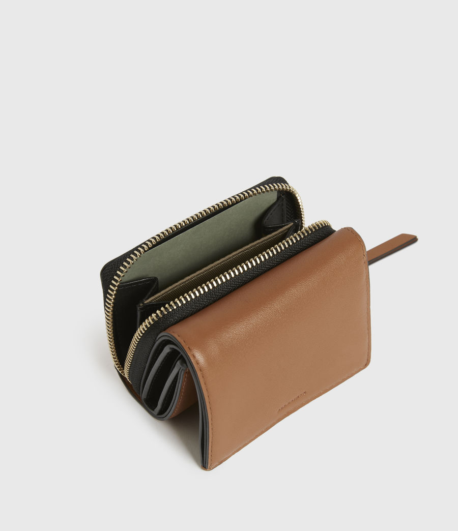 Womens Bede Leather Cardholder (rust_orange) - Image 4