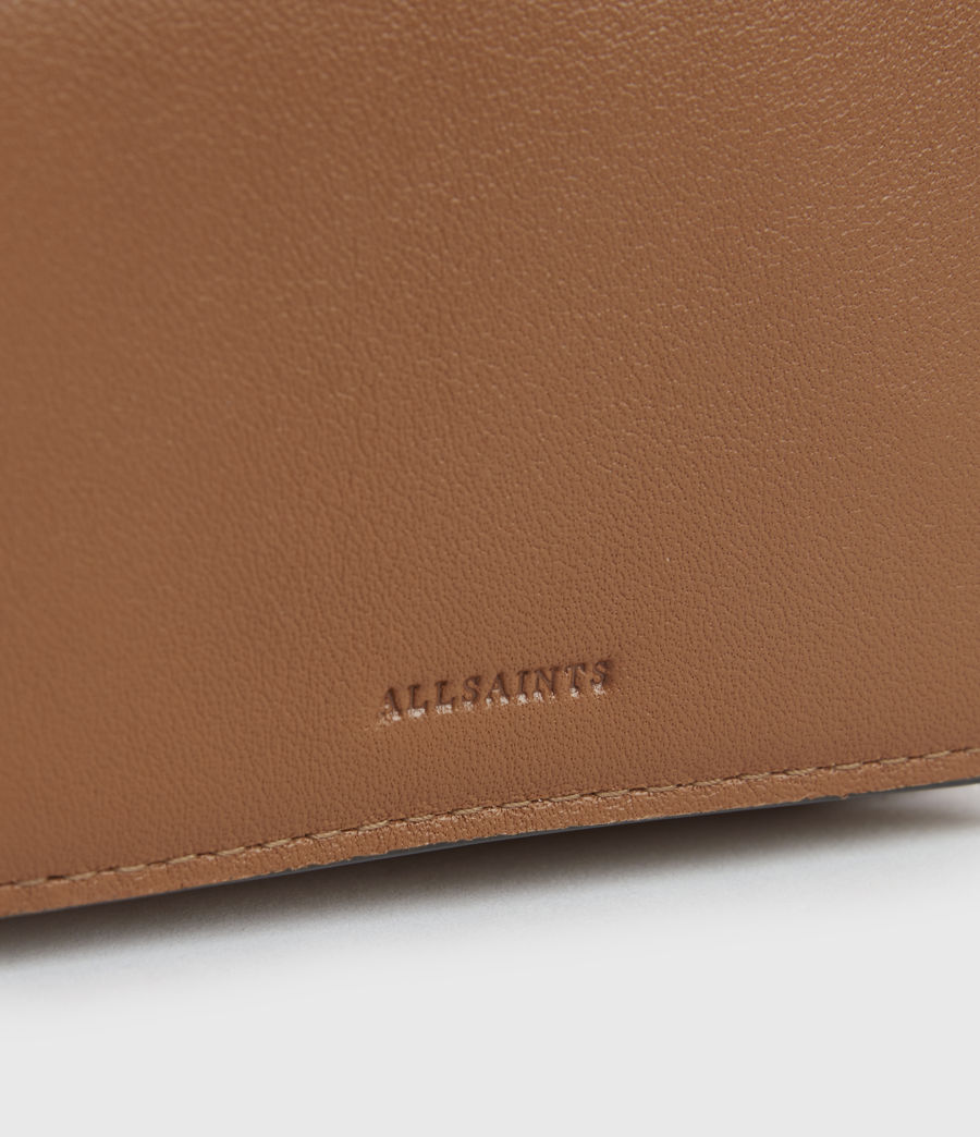 Womens Bede Leather Cardholder (rust_orange) - Image 5