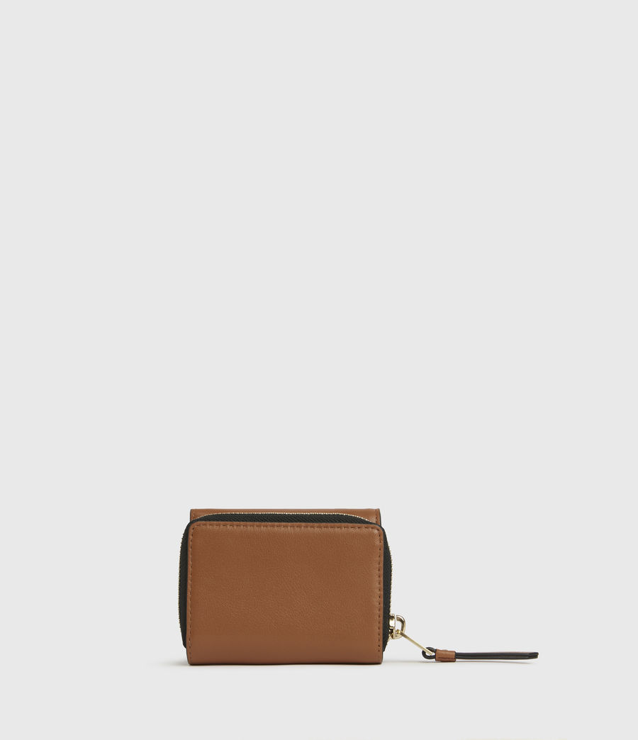 Womens Bede Leather Cardholder (rust_orange) - Image 6