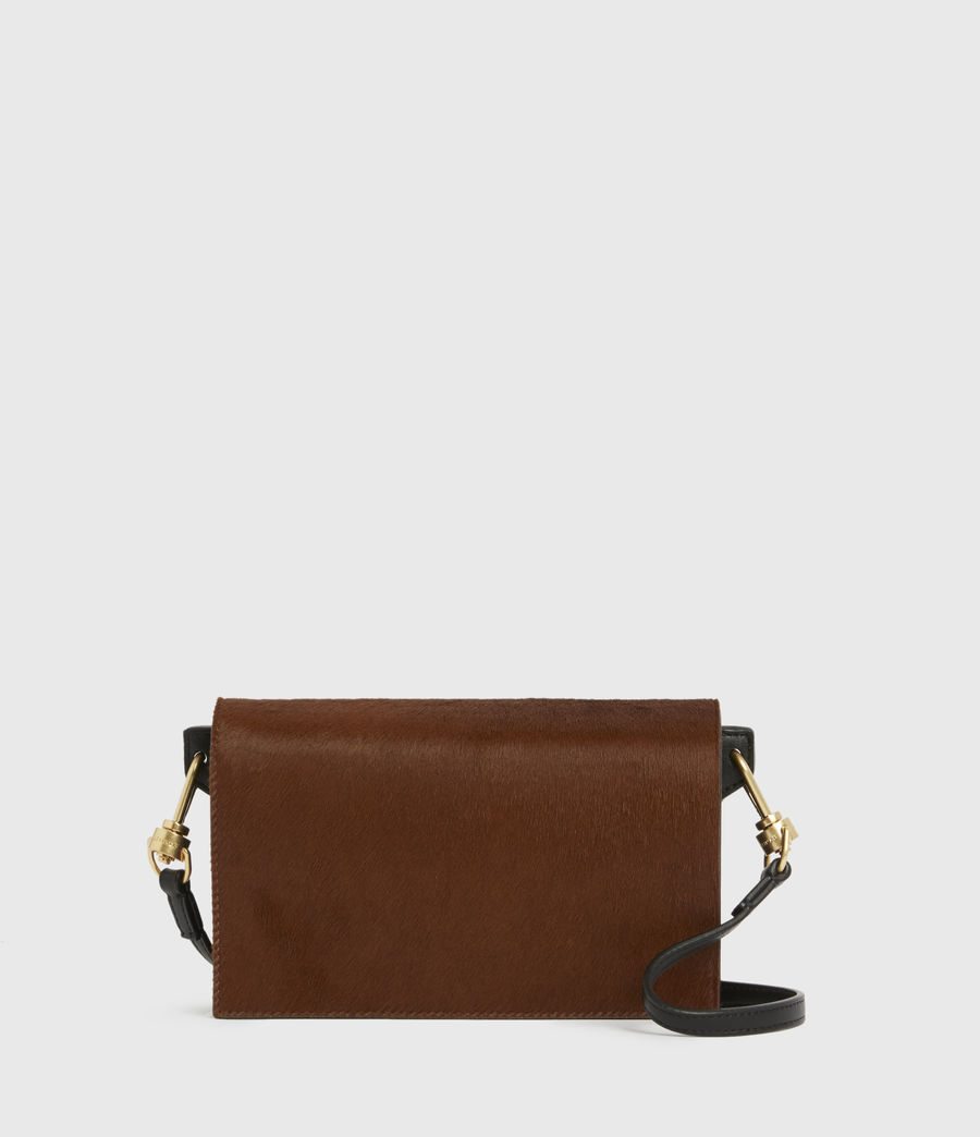 Womens Gold Smith Leather Crossbody Bag (biscuit_brown) - Image 1