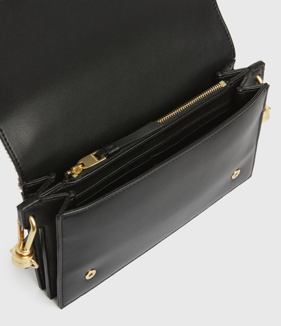 Womens Gold Smith Leather Crossbody Bag (biscuit_brown) - Image 2