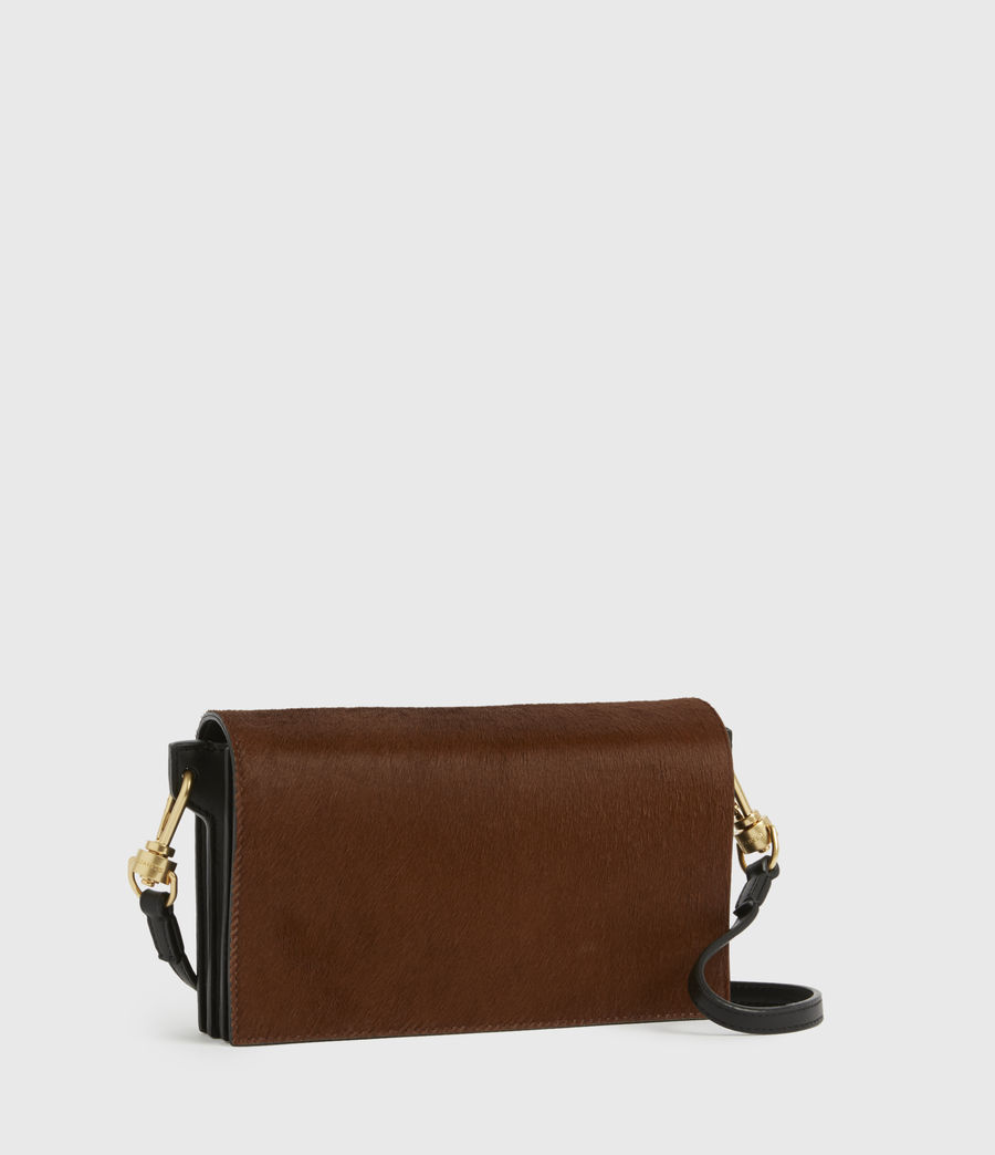 Womens Gold Smith Leather Crossbody Bag (biscuit_brown) - Image 3