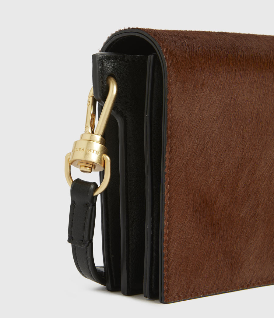 Womens Gold Smith Leather Crossbody Bag (biscuit_brown) - Image 4