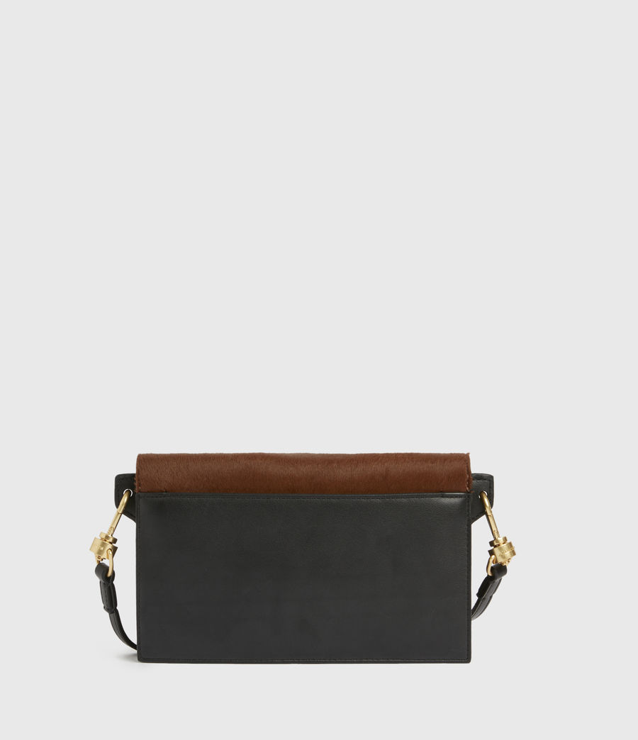 Womens Gold Smith Leather Crossbody Bag (biscuit_brown) - Image 5