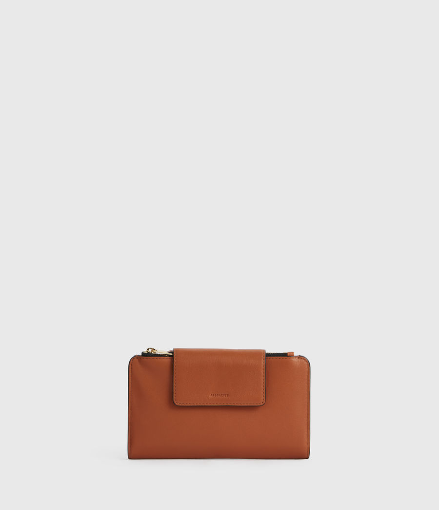 Women's Mitchell Leather Wallet (rust_orange) - Image 1