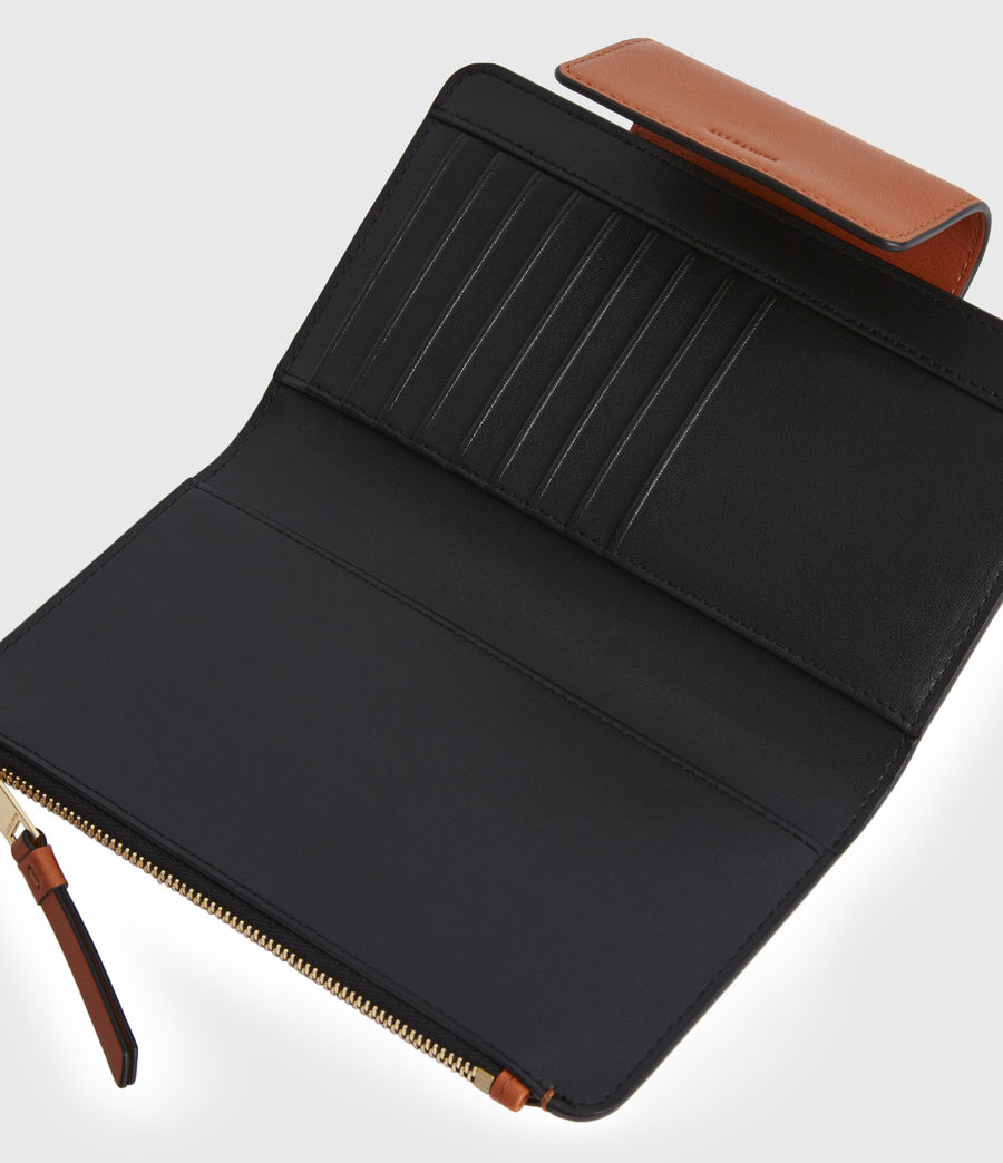 Womens Mitchell Leather Wallet (rust_orange) - Image 2