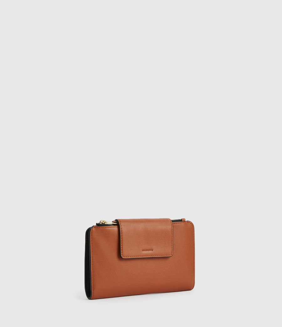 Womens Mitchell Leather Wallet (rust_orange) - Image 3