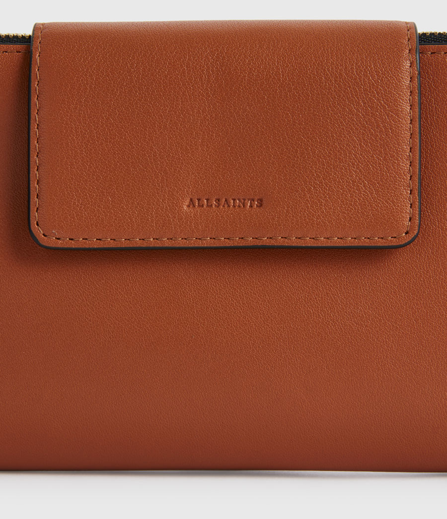 Women's Mitchell Leather Wallet (rust_orange) - Image 3
