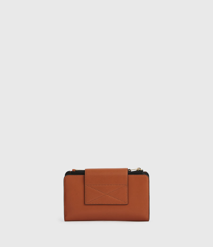 Women's Mitchell Leather Wallet (rust_orange) - Image 4