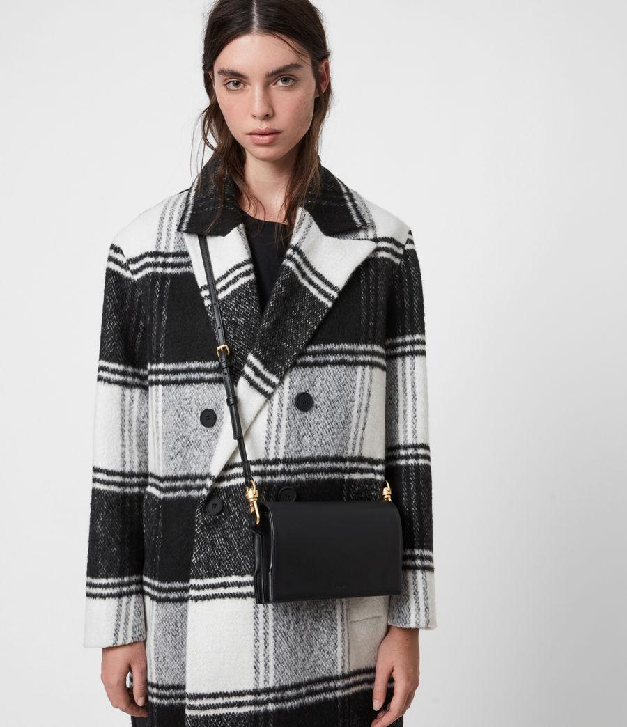 Womens Gold Smith Leather Crossbody Bag (black) - Image 1