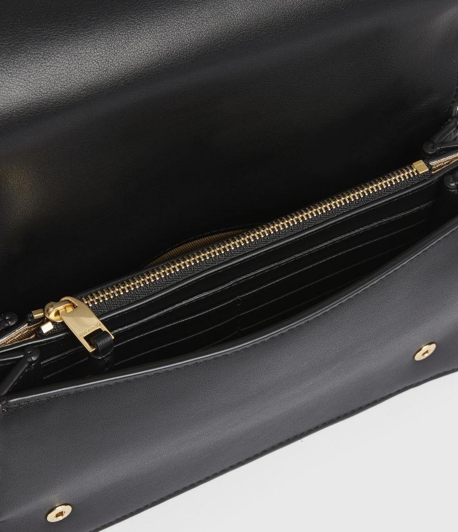 Womens Gold Smith Leather Crossbody Bag (black) - Image 3