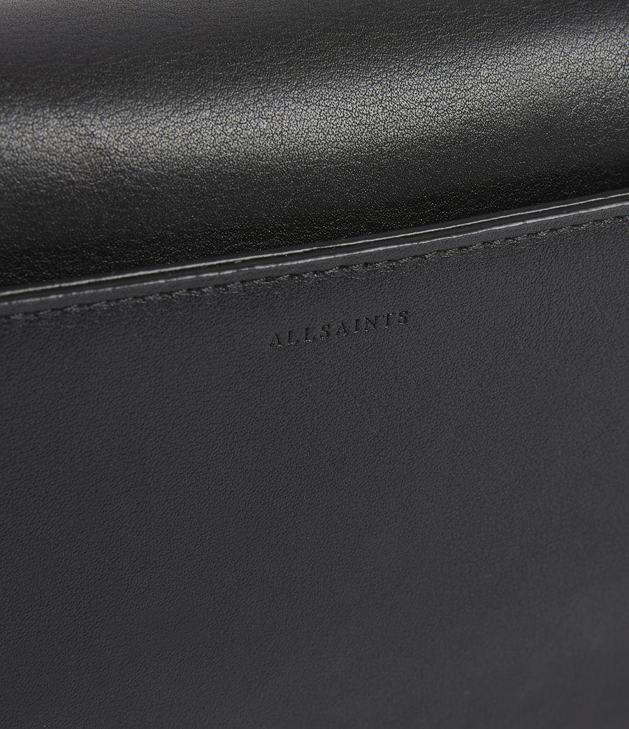 Womens Gold Smith Leather Crossbody Bag (black) - Image 6