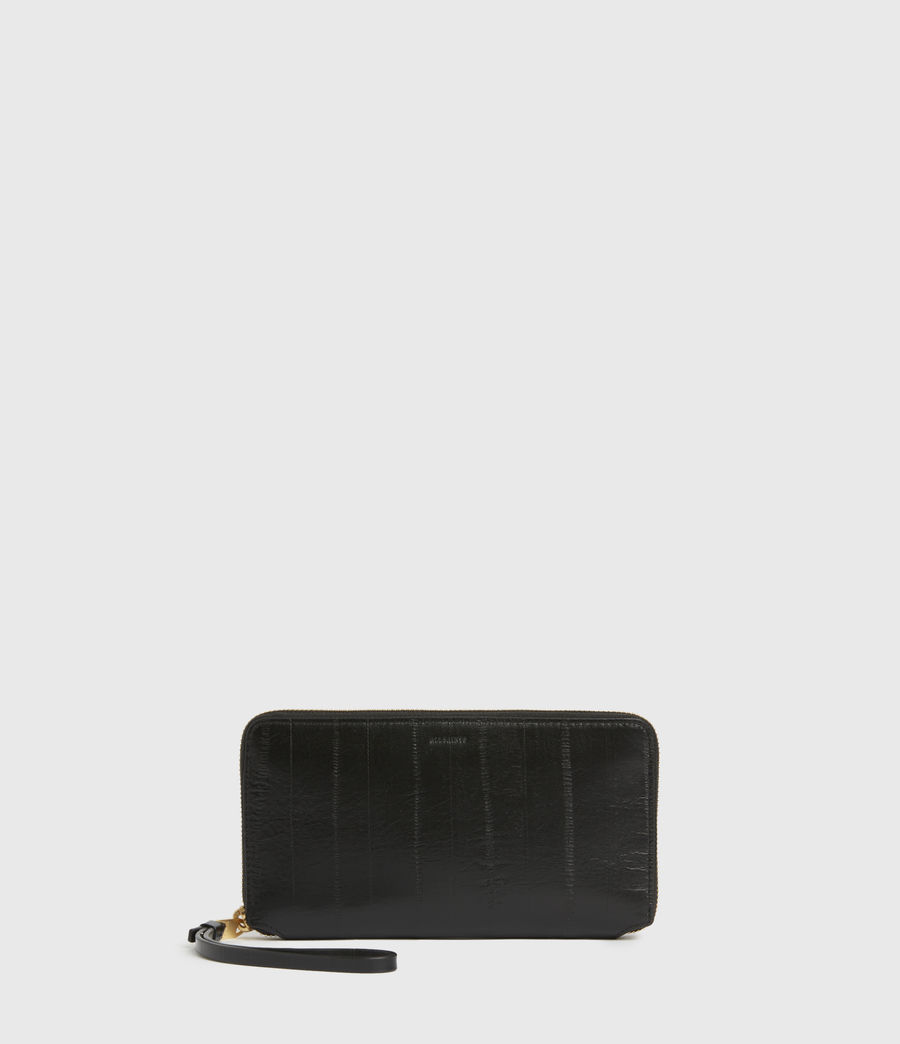 Womens Fetch Leather Phone Wristlet (black) - Image 1