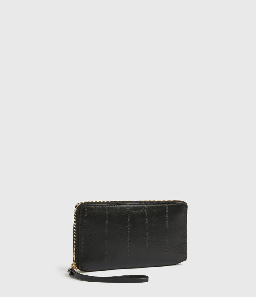 Womens Fetch Leather Phone Wristlet (black) - Image 3