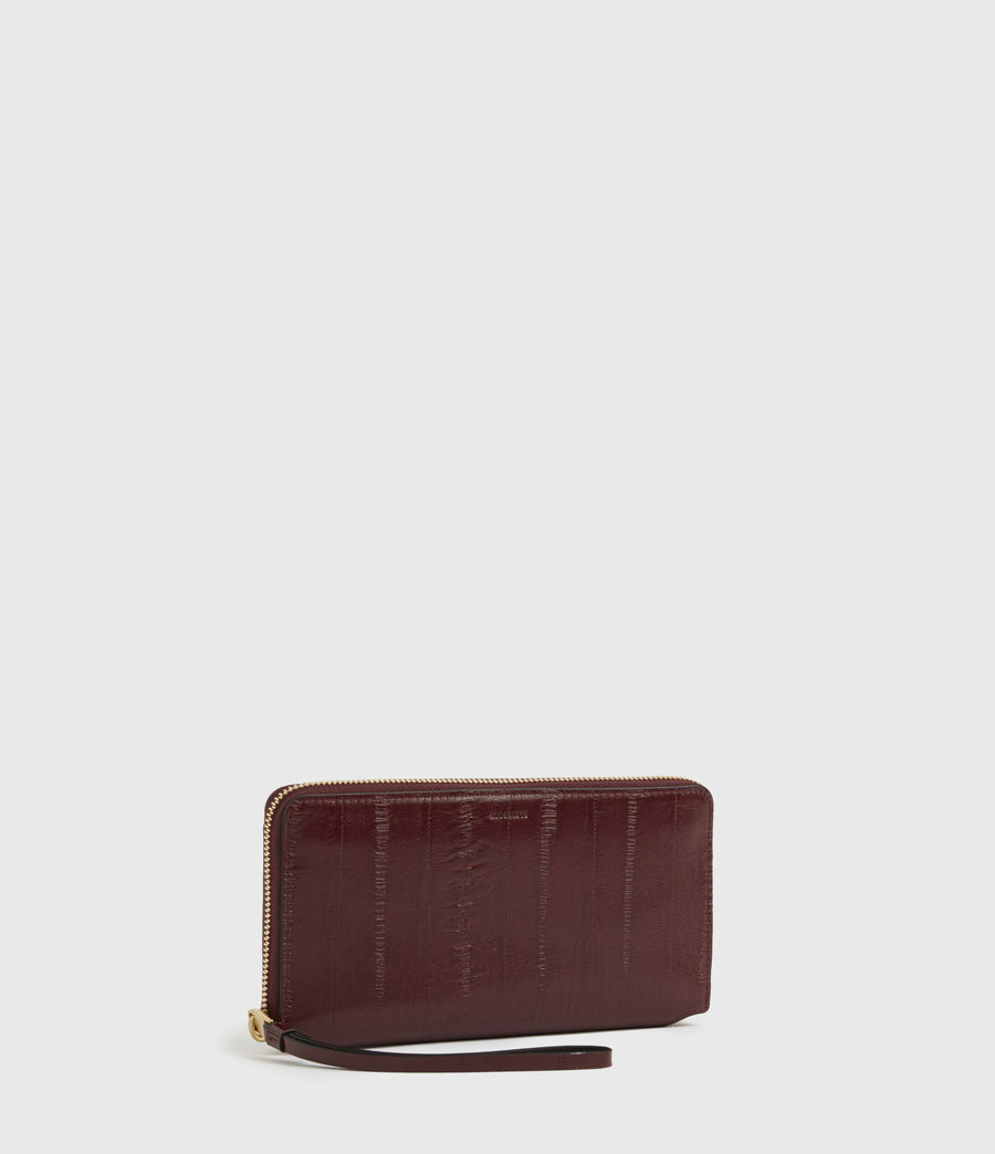 Womens Fetch Leather Phone Wristlet (burnt_sienna_red) - Image 3