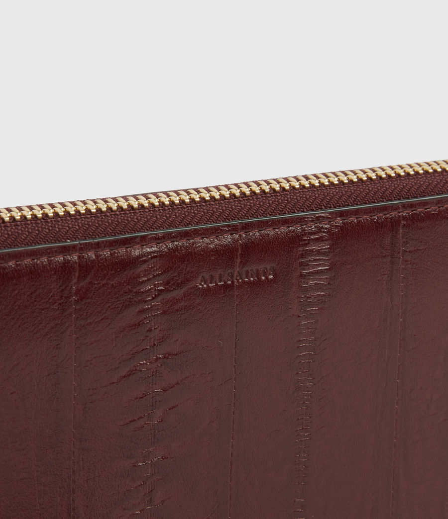 Womens Fetch Leather Phone Wristlet (burnt_sienna_red) - Image 4