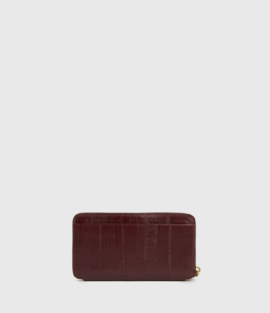 Womens Fetch Leather Phone Wristlet (burnt_sienna_red) - Image 6