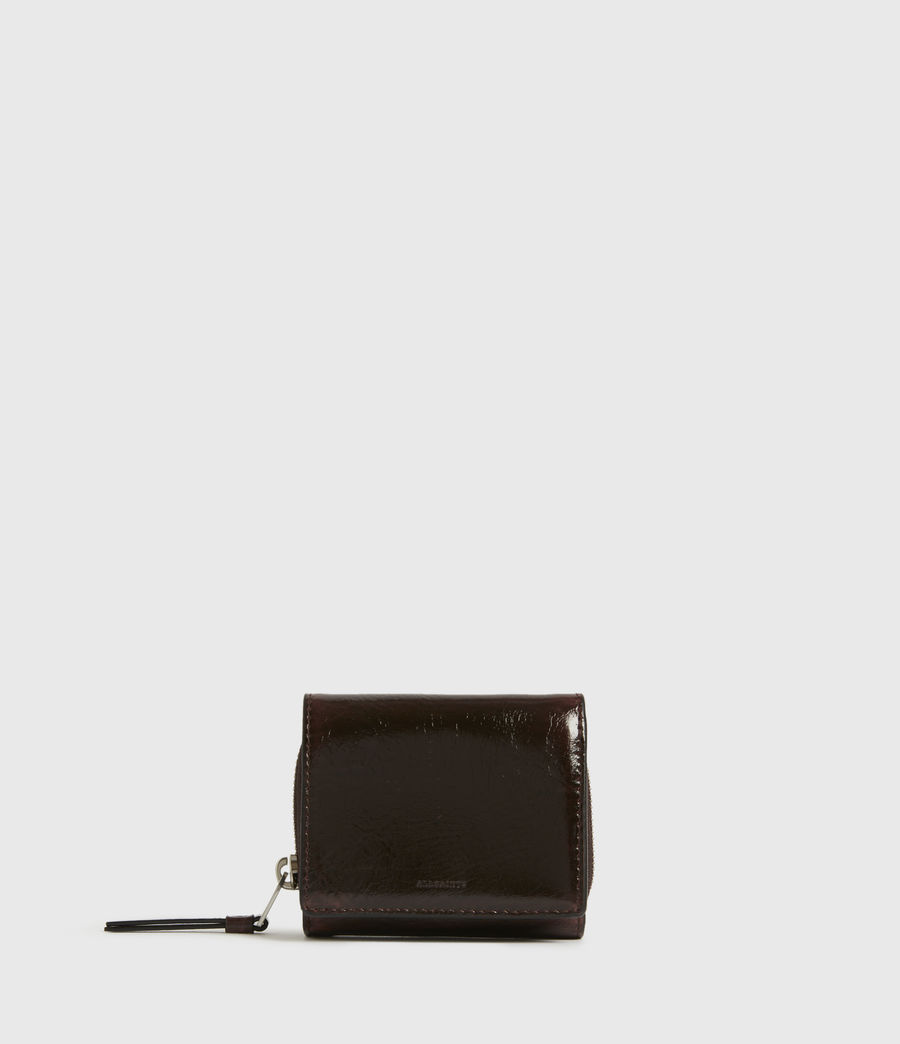 Womens Bede Leather Cardholder (oxblood_brown) - Image 1