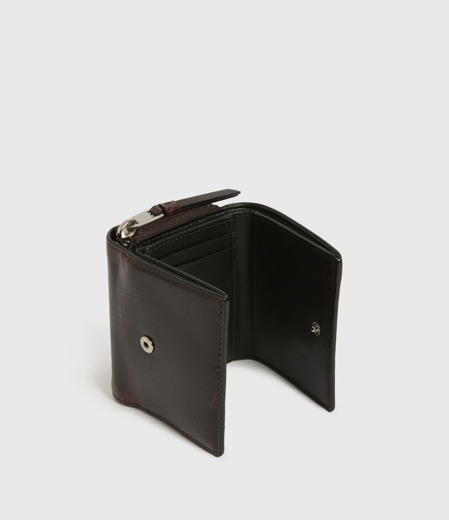 Womens Bede Leather Cardholder (oxblood_brown) - Image 2