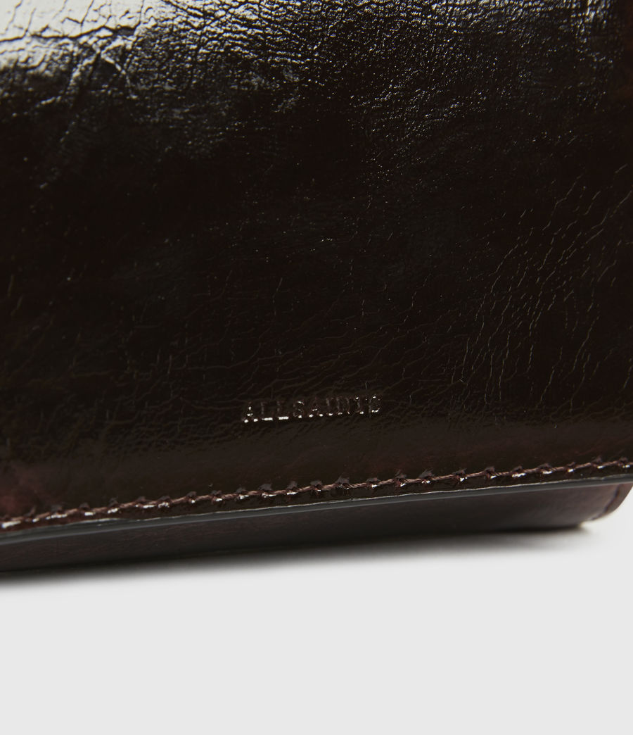 Womens Bede Leather Cardholder (oxblood_brown) - Image 4
