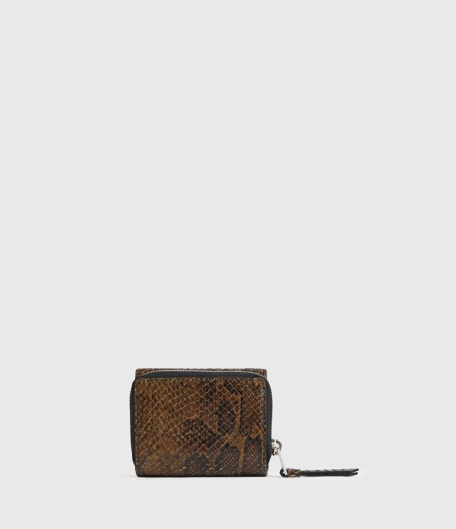 Womens Bede Snake Print Leather Cardholder (light_olive) - Image 5