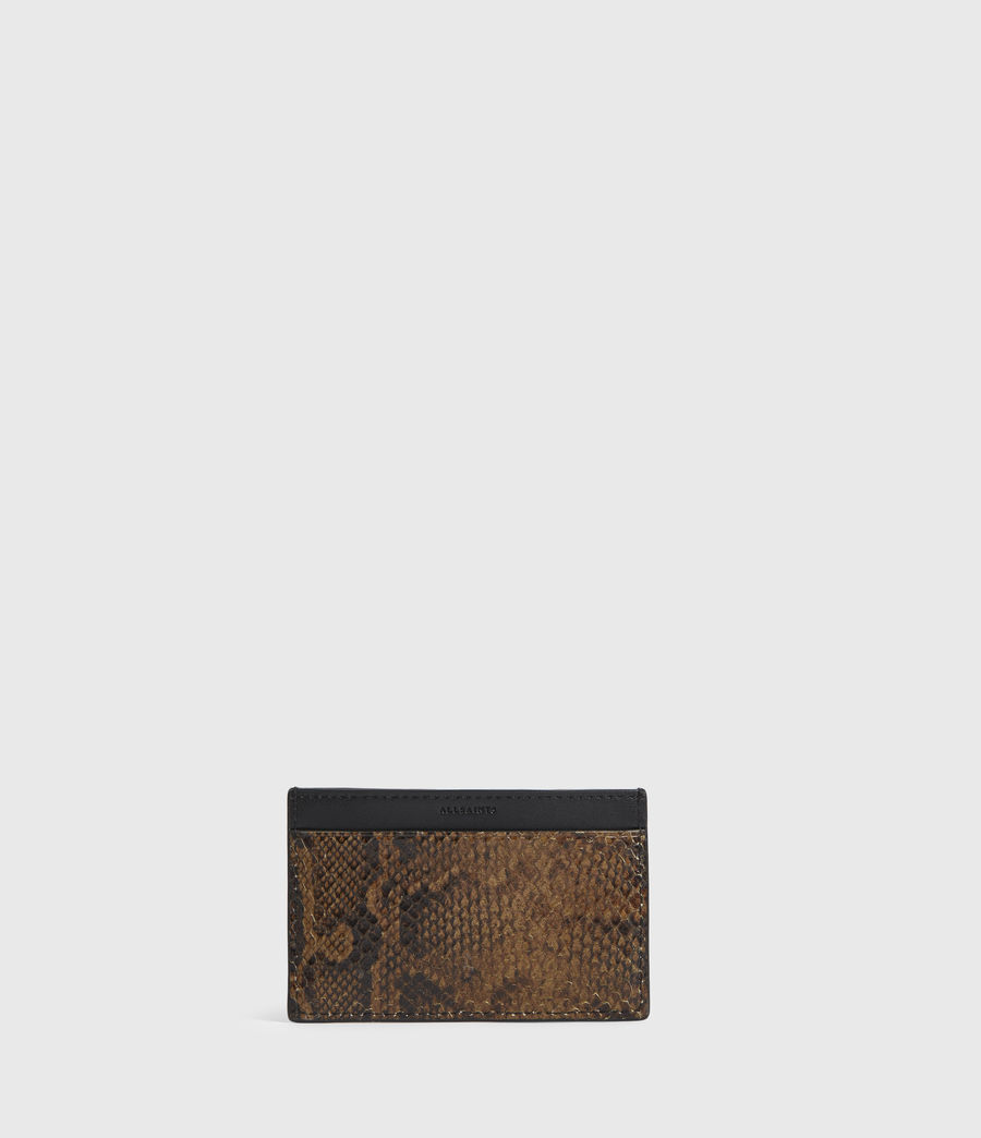 Women's Anabel Leather Snake Cardholder (light_olive) - Image 1