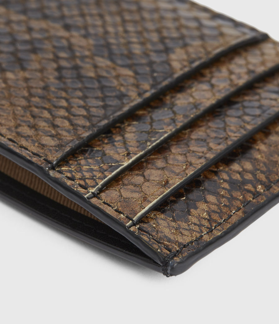 Women's Anabel Leather Snake Cardholder (light_olive) - Image 2