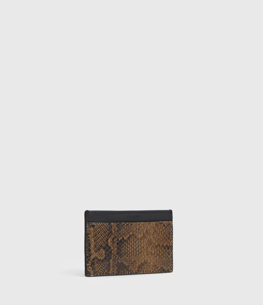 Women's Anabel Leather Snake Cardholder (light_olive) - Image 3