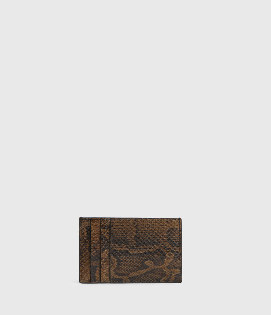 Women's Anabel Leather Snake Cardholder (light_olive) - Image 5