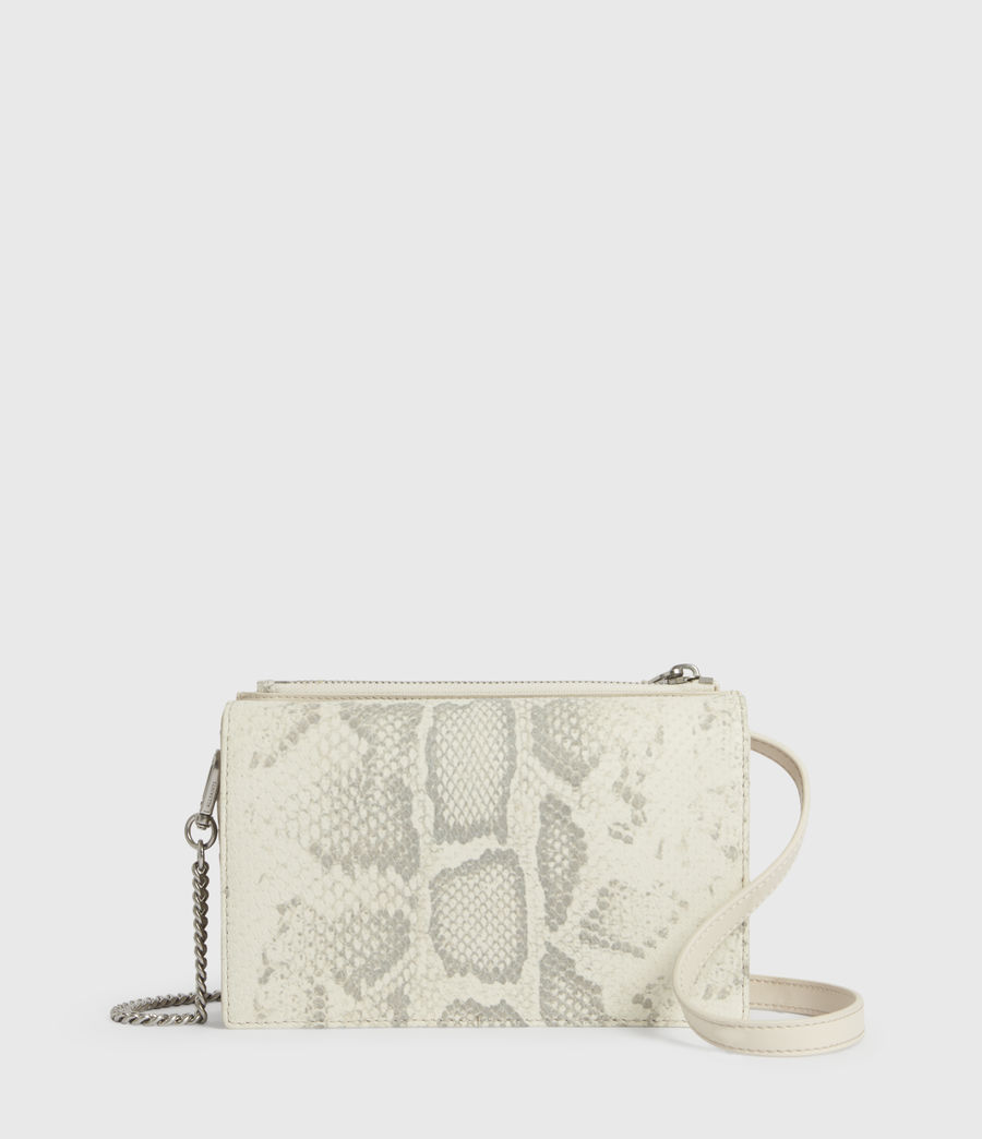 Womens Claremount Leather Chain Crossbody Bag (chalk_white) - Image 1