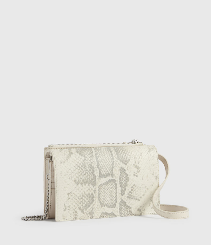 Womens Claremount Leather Chain Crossbody Bag (chalk_white) - Image 3