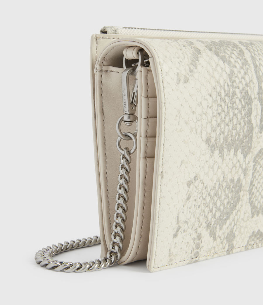 Womens Claremount Leather Chain Crossbody Bag (chalk_white) - Image 4