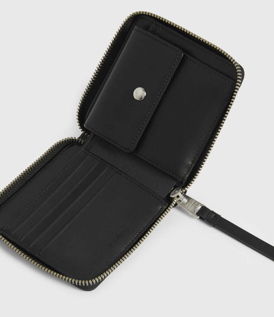 Women's Clapham Leather Wallet (black) - Image 3