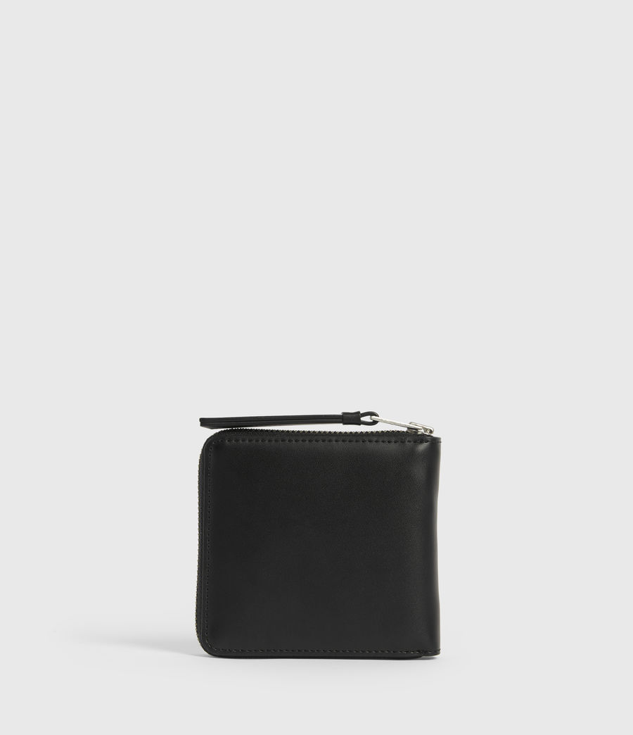 Women's Clapham Leather Wallet (black) - Image 5