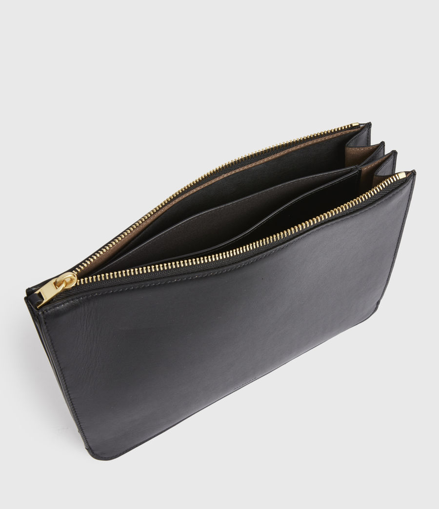 Women's Denbigh Leather Wallet (black) - Image 2