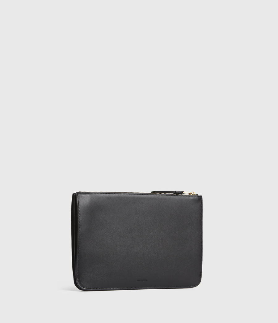 Women's Denbigh Leather Wallet (black) - Image 3