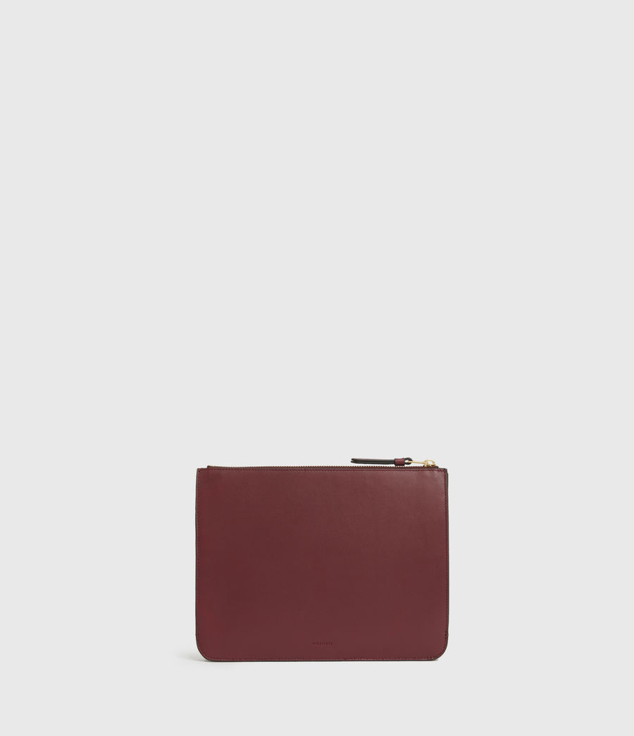 Women's Denbigh Leather Wallet (burnt_sienna_red) - Image 1