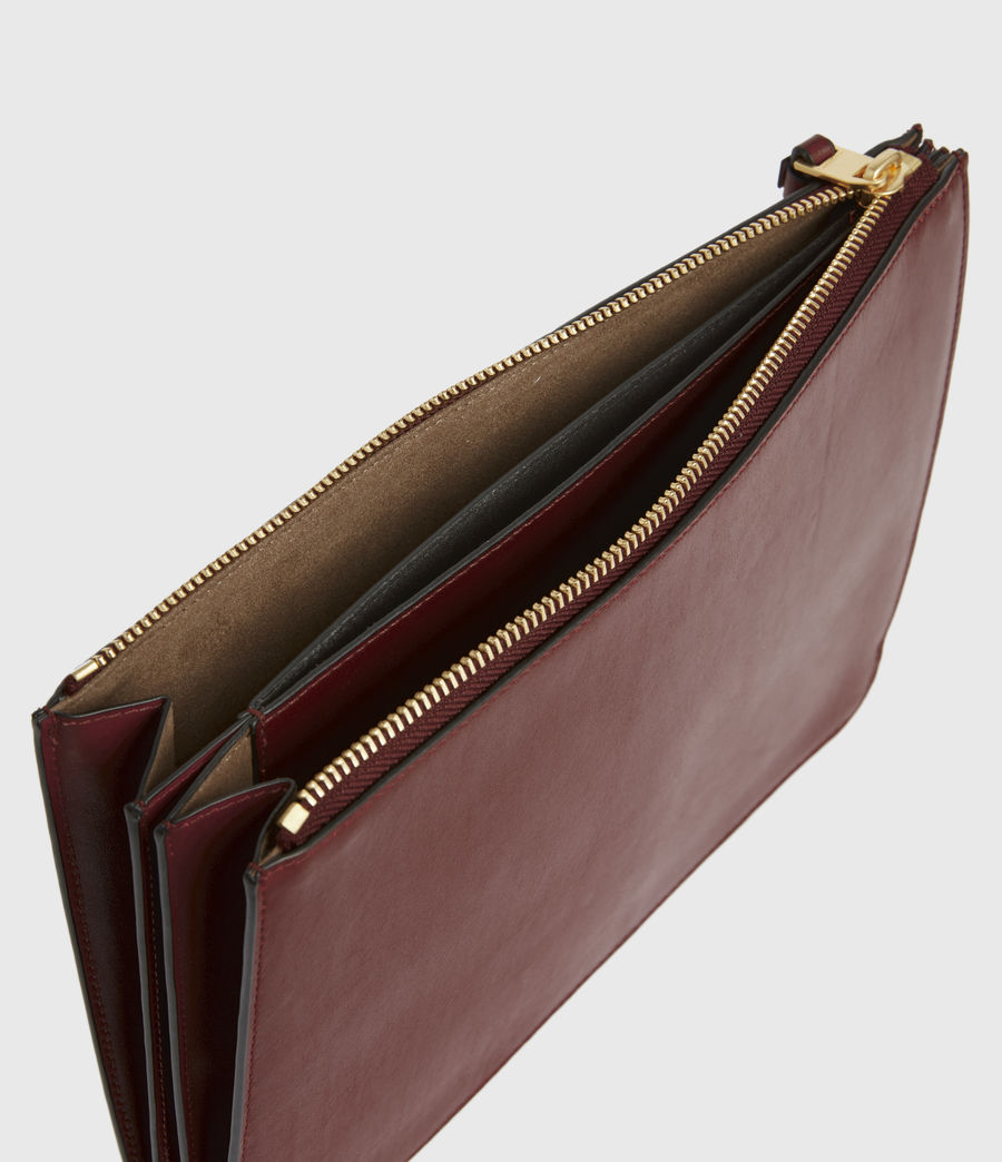 Womens Denbigh Leather Wallet (burnt_sienna_red) - Image 2