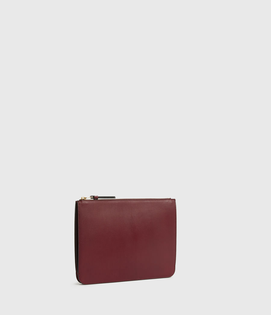 Womens Denbigh Leather Wallet (burnt_sienna_red) - Image 3