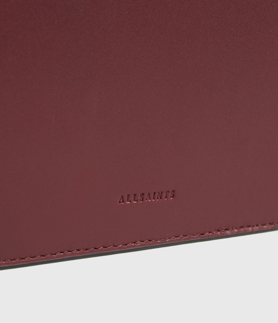 Women's Denbigh Leather Wallet (burnt_sienna_red) - Image 4