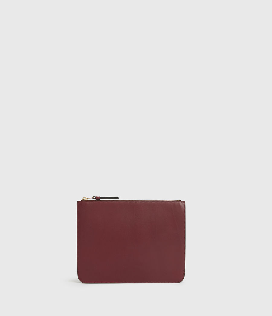 Womens Denbigh Leather Wallet (burnt_sienna_red) - Image 5
