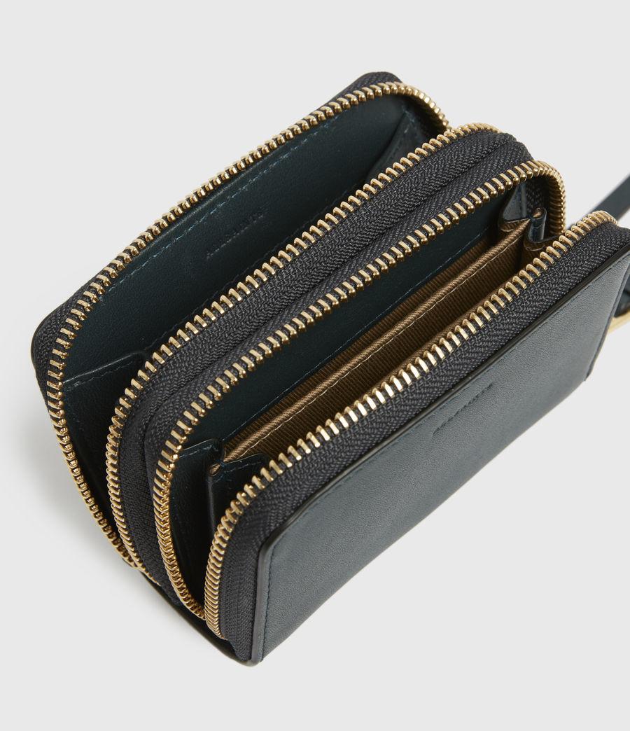 Women's Nantes Leather Cardholder (dark_green) - Image 2
