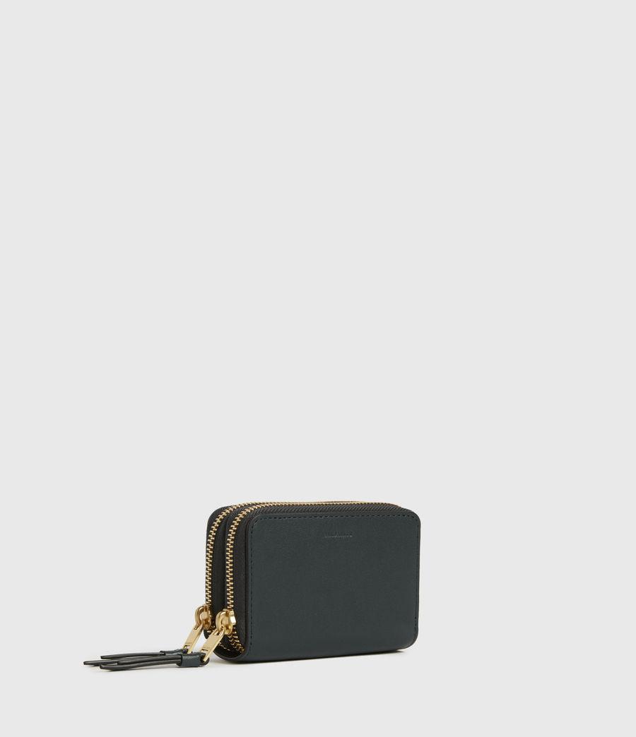 Women's Nantes Leather Cardholder (dark_green) - Image 3